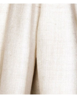 Natural Ivory White cashmere Scarve