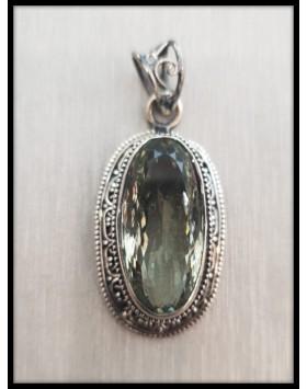 Silver Pendant Peridot