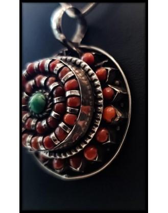 Silver Pendant Coral
