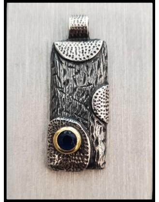 Silver Pendant Safir