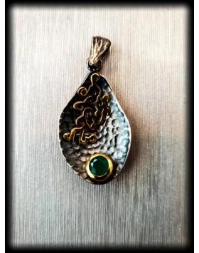 Silver Pendant Emerald