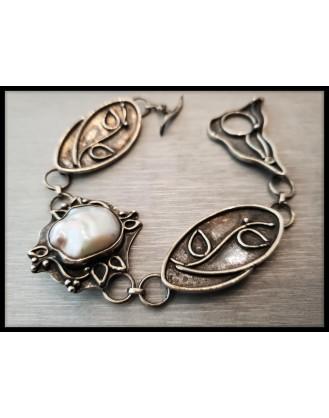 Silver Bracelet Pearl