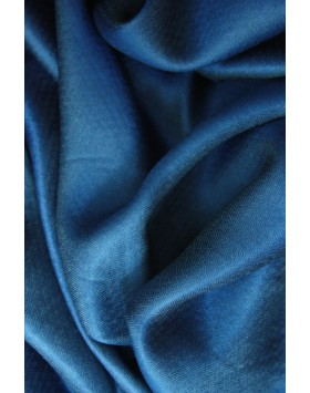 Antique Blue Silk  Kashmir Scarve