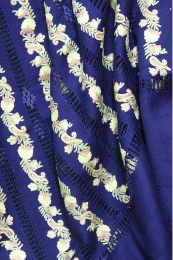 Regal paisley macrame shawl