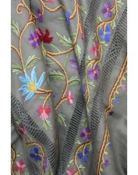 Sahara Garden macrame shawl