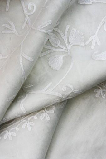 Ivory Kashmir Shawl
