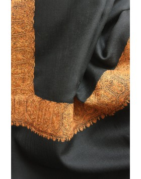 Golden Ebony Kashmir Shawl