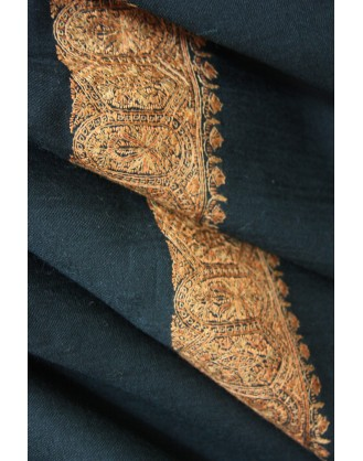 Golden Ebony Kashmir Shawl