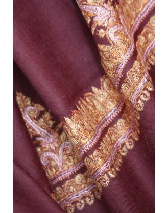 Golden Paisley Kashmir Shawl