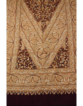 Royal Mughal Paisley Kashmir Shawl