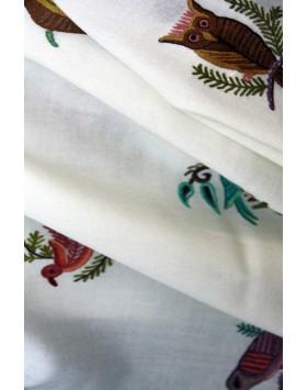 Singing Birds ivory shawl