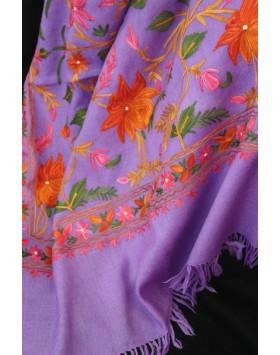 Amethyst bouquet Kashmir Shawl