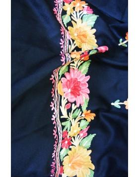 Summer Bouquet Kashmir ebony Shawl